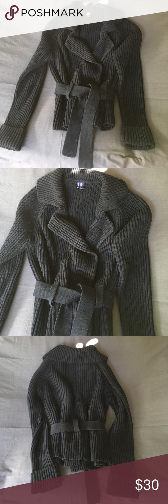 Fabulous Gap sweater jacket Great fitting heavy cotton sweater ...