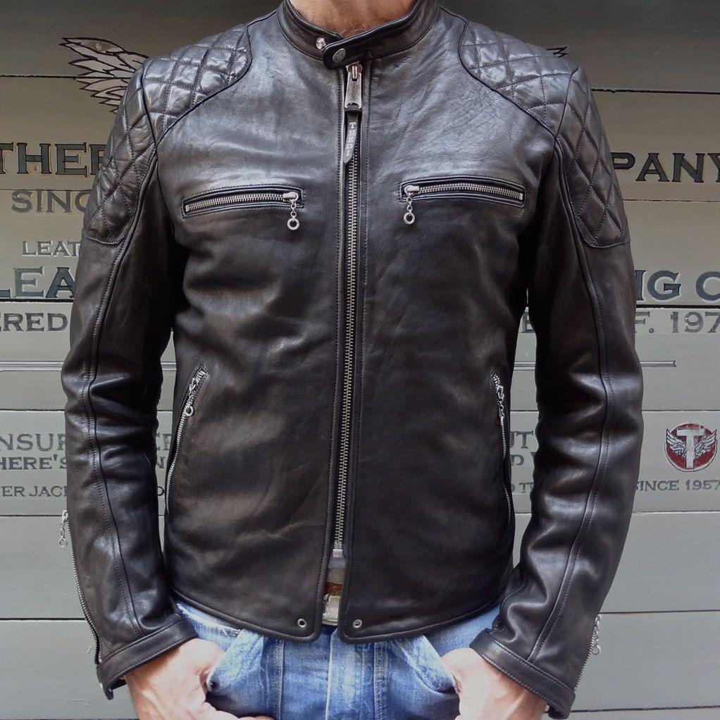 Bogotto Chicago Moto Pelle Giacca Retro