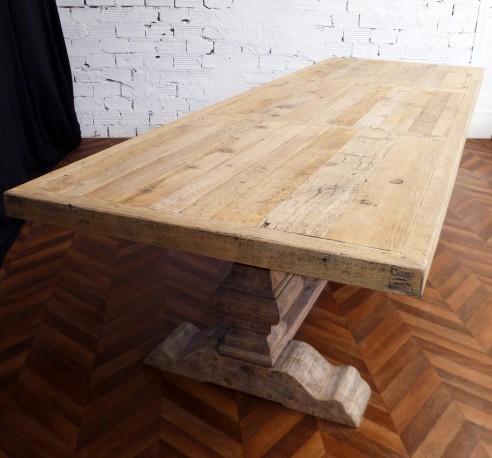 Grande Et Belle Table De Ferme Monastere En Bois Brut Naturel De 330 Cm De Long Table De Ferme Table De Ferme Ronde Table Monastere