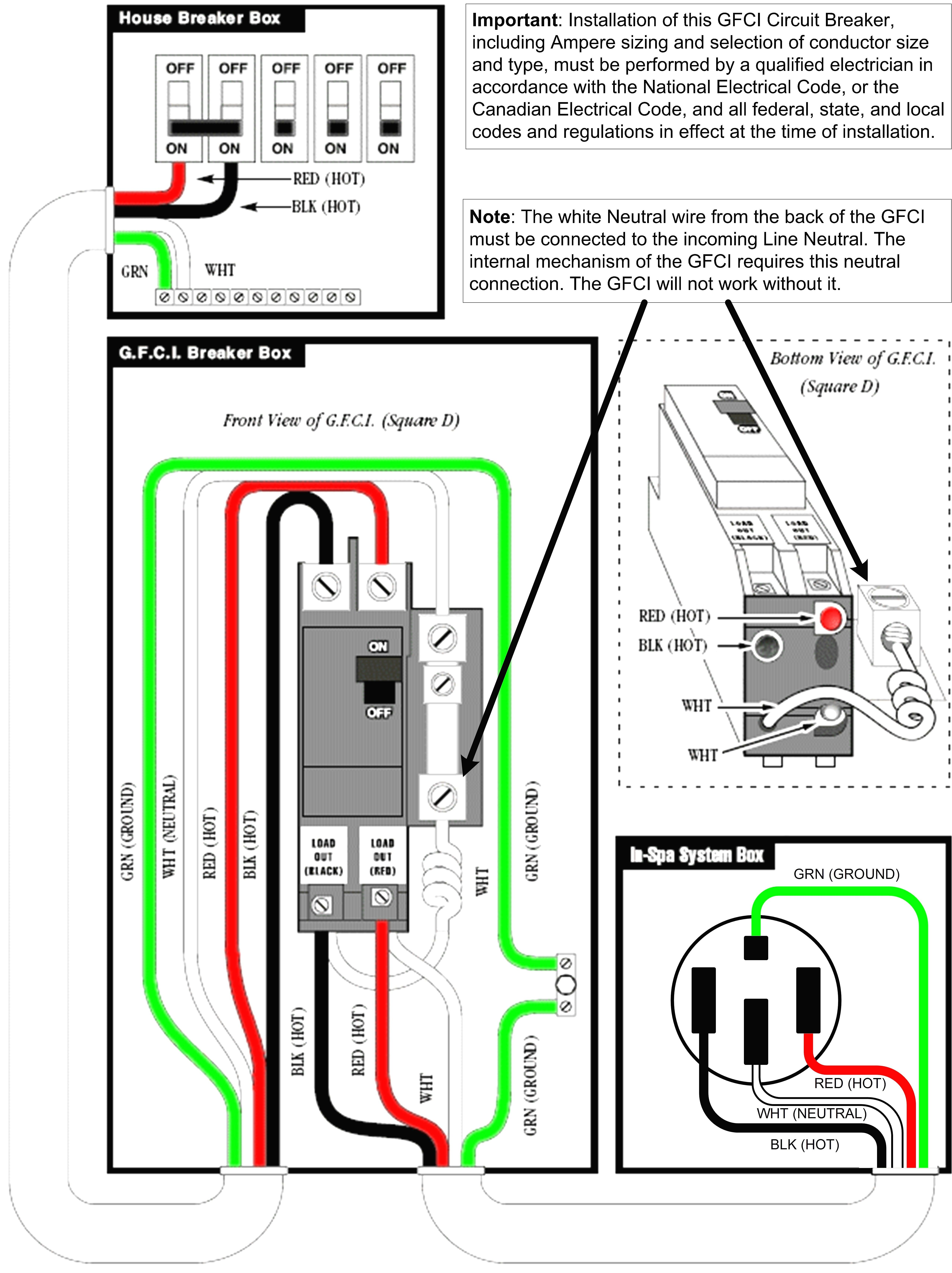 New Gfci Wiring Diagram for Hot Tub #diagram #diagramsample  #diagramtemplate #wiringdiagram #diagramchart #wo… | Electrical panel wiring,  Outlet wiring, ElectricityPinterest