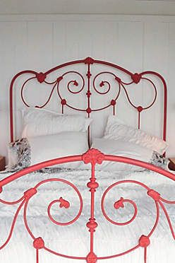 Anthropologie Catalog March 2014 Lookbook Painted Iron Beds Red Bedding Iron Bed Frame