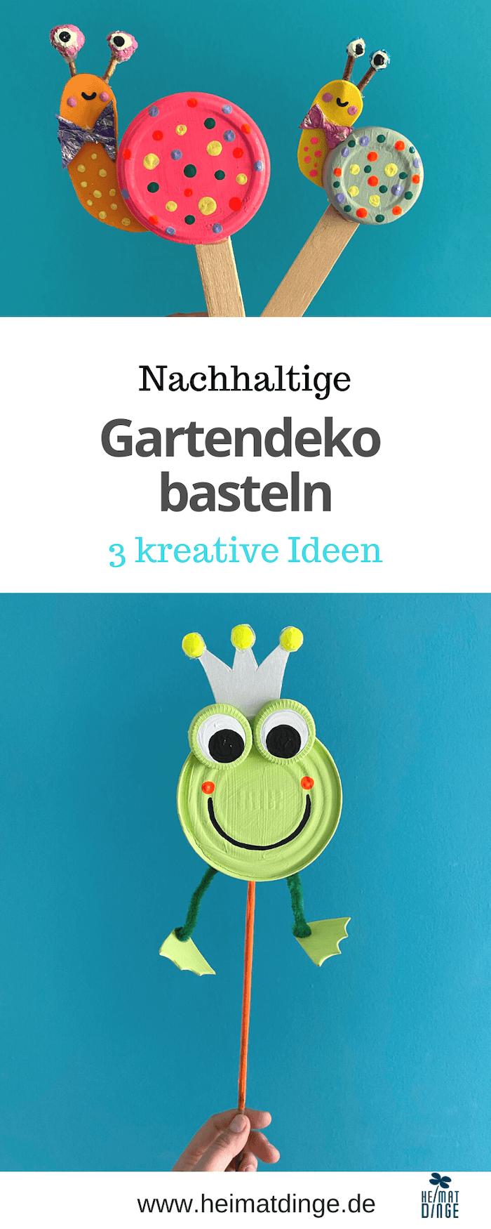 Nachhaltige Gartendeko basteln - 3 kreative Ideen
