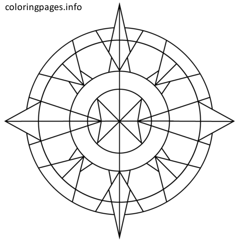 simple kaleidoscope coloring pages #simple kaleidoscope coloring ...