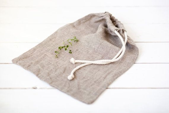 Bread bag Natural Linen Products Bag Linen от LinenHomeShop
