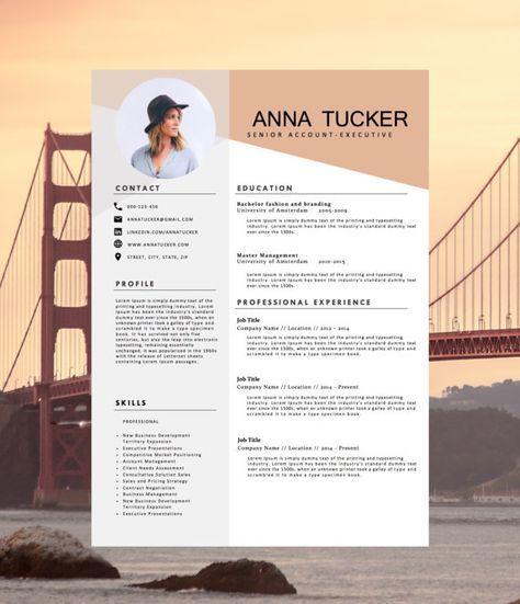 Modern Resume Template  Cv Template By Hedgehogboulevard On Etsy
