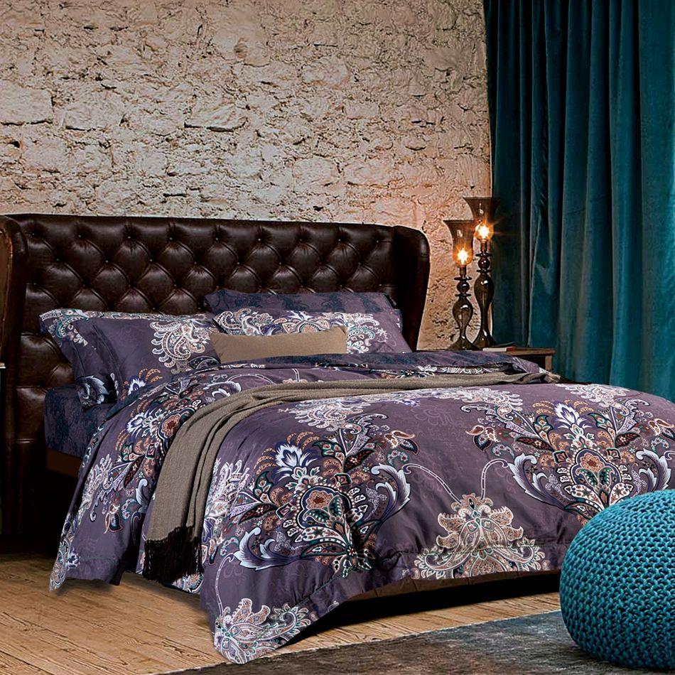 luxury soft purple duvet cover set,queen king size duvet