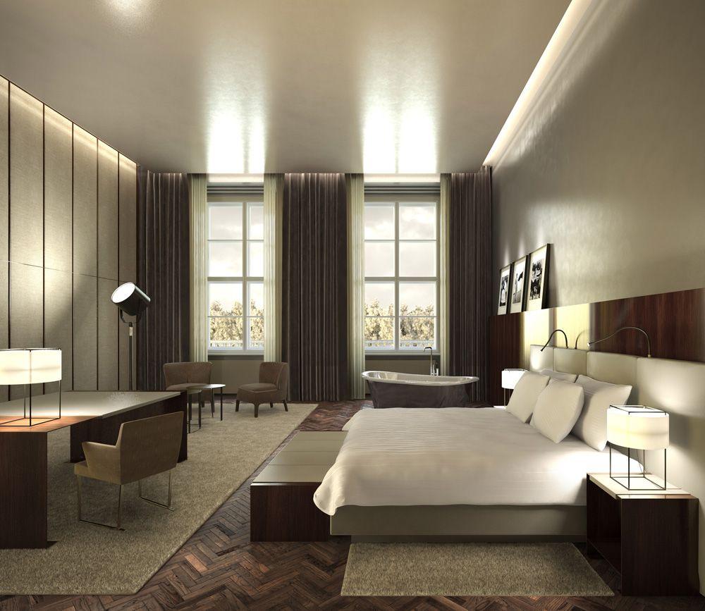 Bedroom Rendering Bedroom Ceiling Uplighters Childrens Bedroom Wallpaper Bedroom Black White: Render Interiorismo Hotel