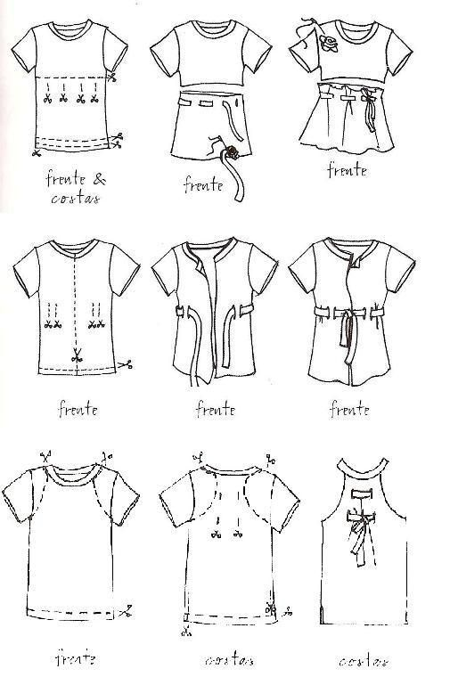 DIY Refab T-shirt customizing (Portuguese site) | abadá | Pinterest ...