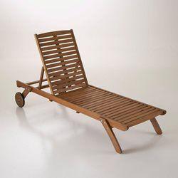 Bain de soleil, chaise longue, eucalyptus La Redoute Interieurs - Transat, chaise longue