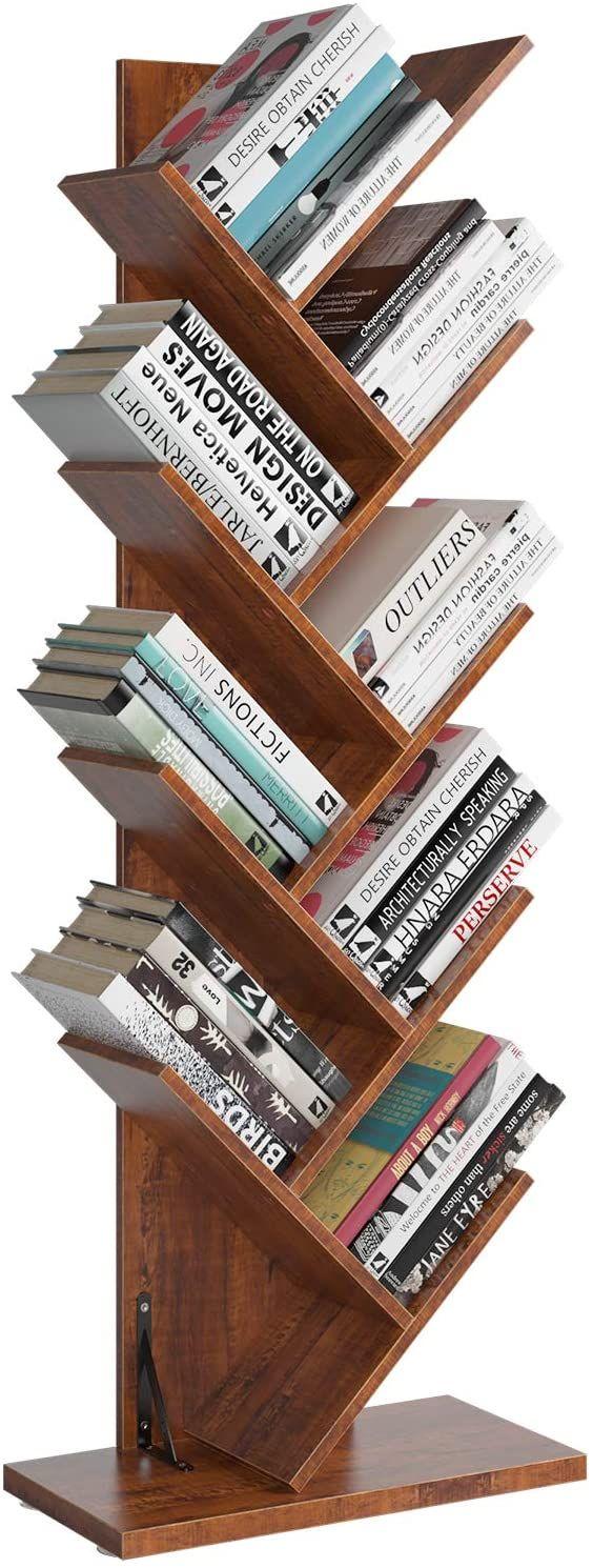 Photo of Homfa Tree Bookshelf, 9-Shelf Bookcase Rack