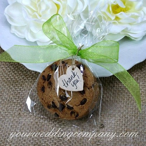 Flat cellophane wedding favor bags are great for packaging edible items  such as cookies and candy