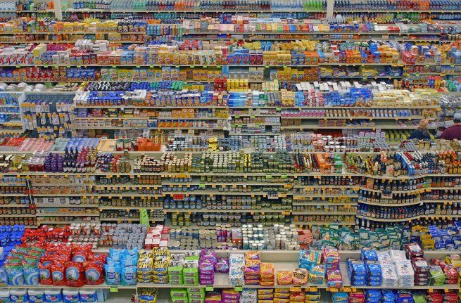 Andreas Gursky. 'diptych 99 cent store II' 2001