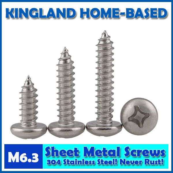 Gb845 M6 3 Cross Recessed Pan Head Phillips Self Tapping Sheet Metal Screws For Diy 304 Stainless Steel Fas 316 Stainless Steel Stainless Steel Fasteners Steel