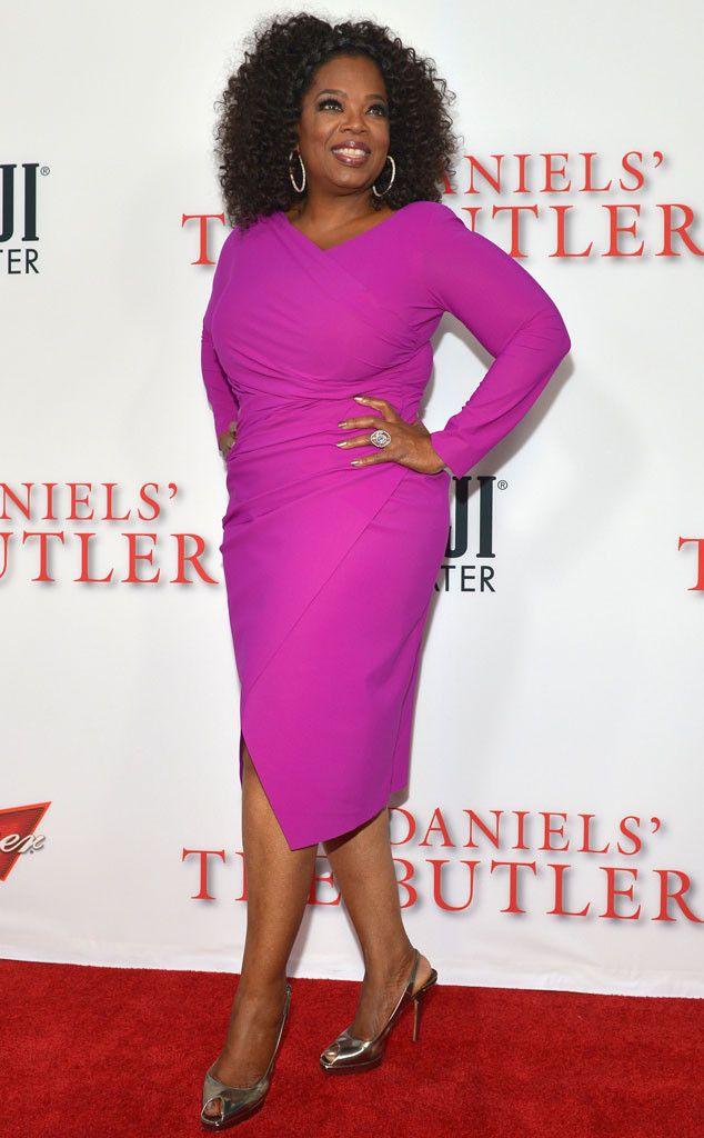 Oprah Shows Off Slimmer Figure in Body-Hugging Dress ...