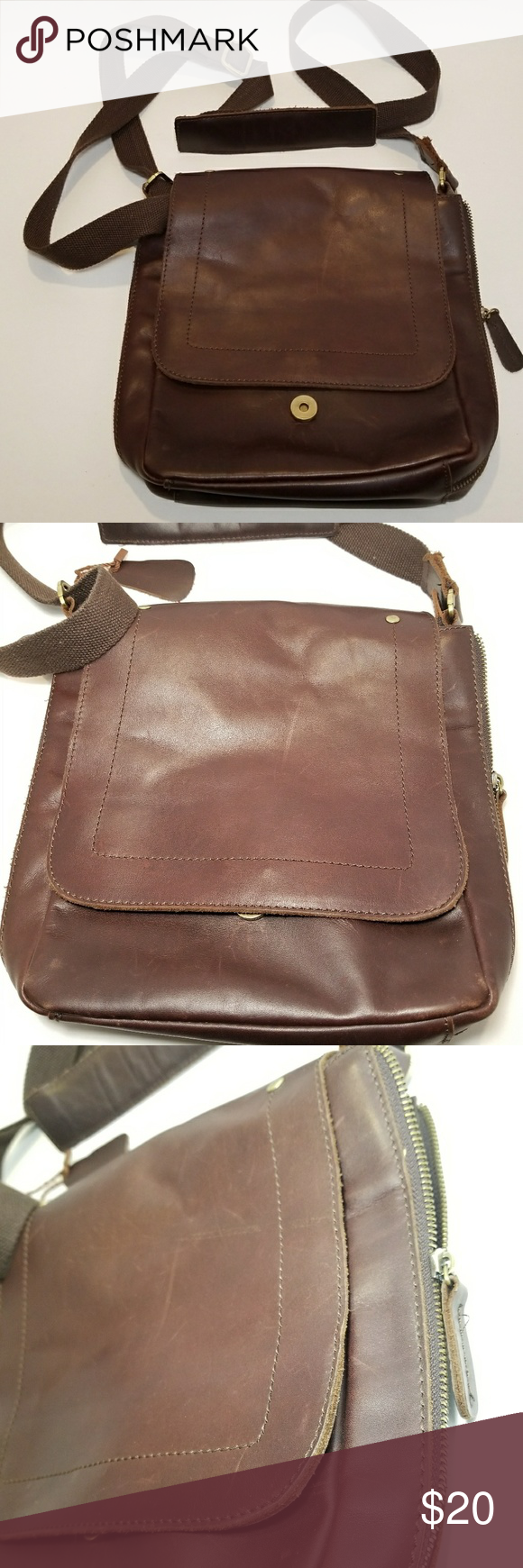 Genuine Leather Crossbody bag This is a nice leather CROSSBODY BAG to carry  your essentials. Has open lining compartment with zip up pocket. b7786f9812