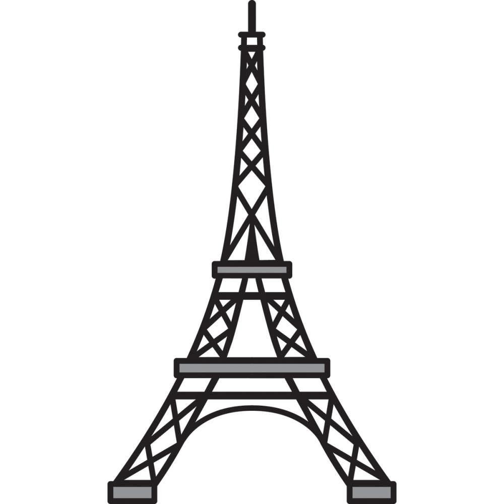 Line Drawing Eiffel Tower : Eiffel tower stencil dromgfk top cliparts painted