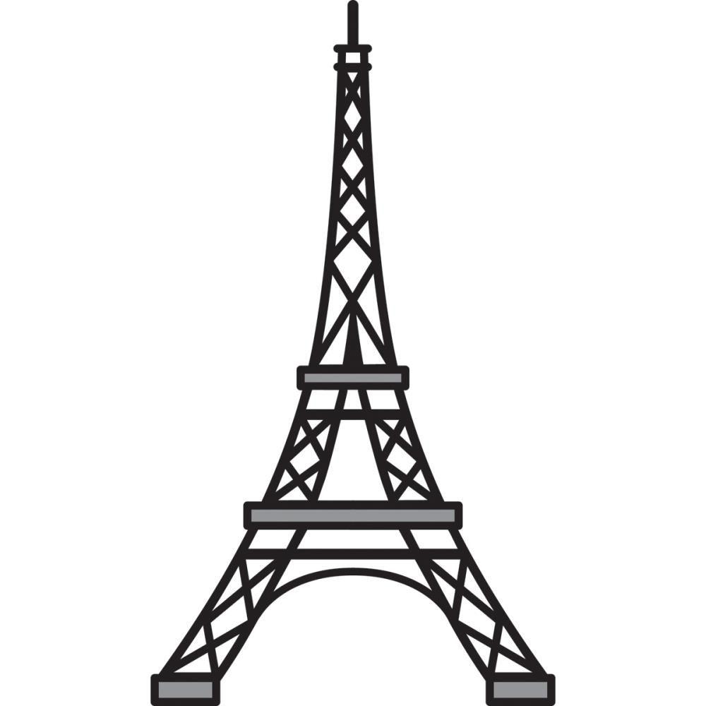 Line Art Eiffel Tower : Eiffel tower stencil dromgfk top cliparts painted