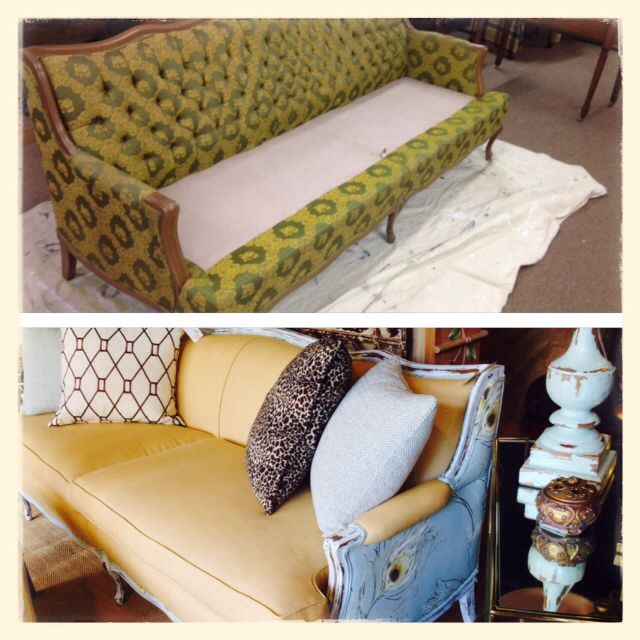 Great Redone French Provincial Sofa