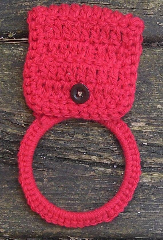 Crochet Kitchen Towel Holder | Pinterest | Tejido, Toallas y Cocinas