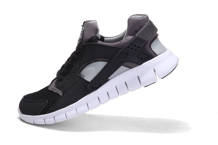 factory authentic cb08a 80b41 Nike Huarache Free 2012 Runs Black White Metallic Silver