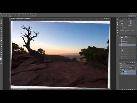How to auto align layers in photoshop