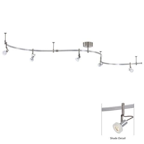LED Accent Light Kit - LED Accent Light Kit with Silver finish and Frosted White Glass Shades