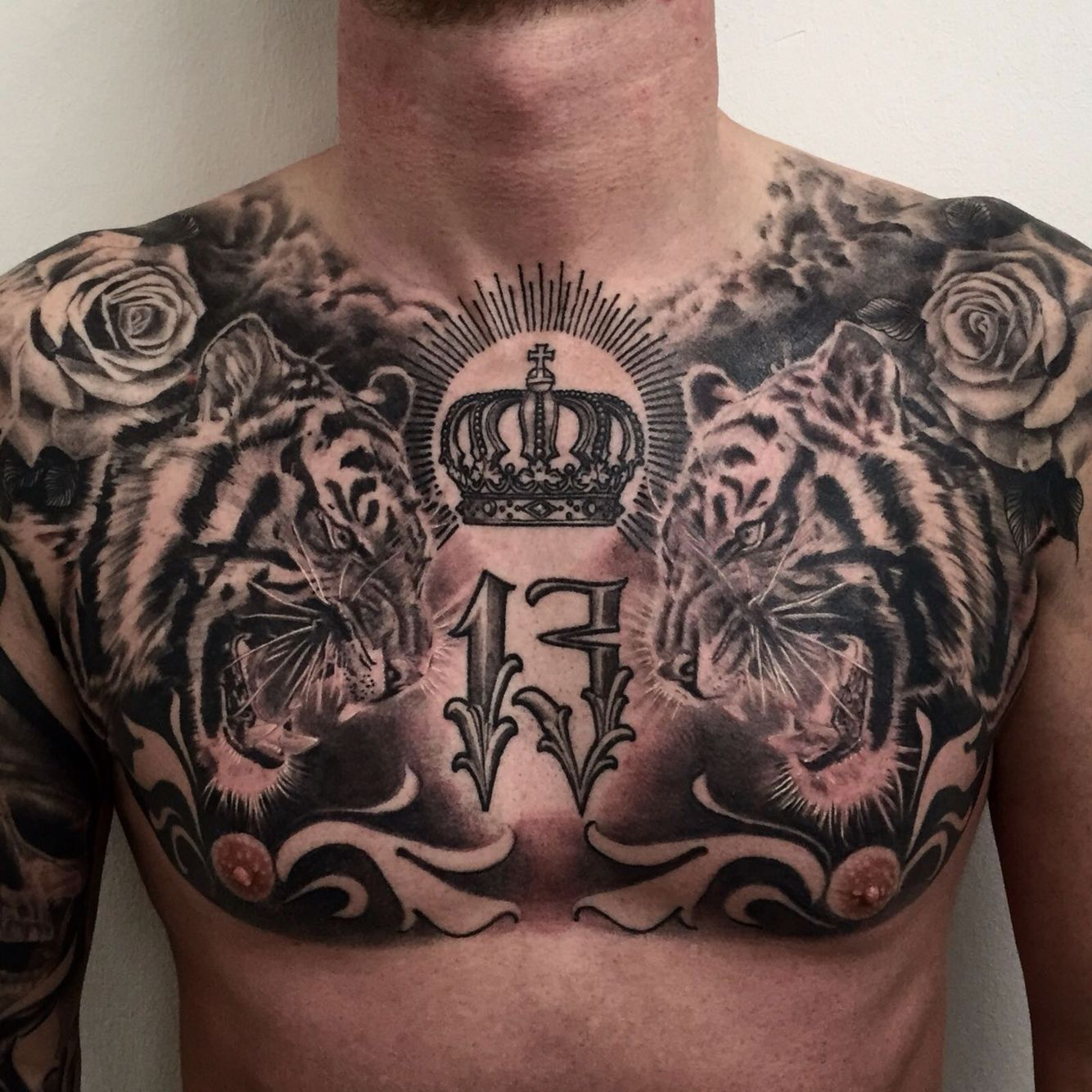 tiger tattoo chest Tiger tattoo, Full chest tattoos, Tattoos