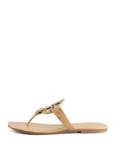 73cda2c9dd8dc ... Women s Shoes at Neiman Marcus. Cat CatSandsNeiman MarcusLogosTory BurchBeachesA  LogoLegos. X1XEL Tory Burch Tory Burch Miller Patent Logo Thong Sandal ...