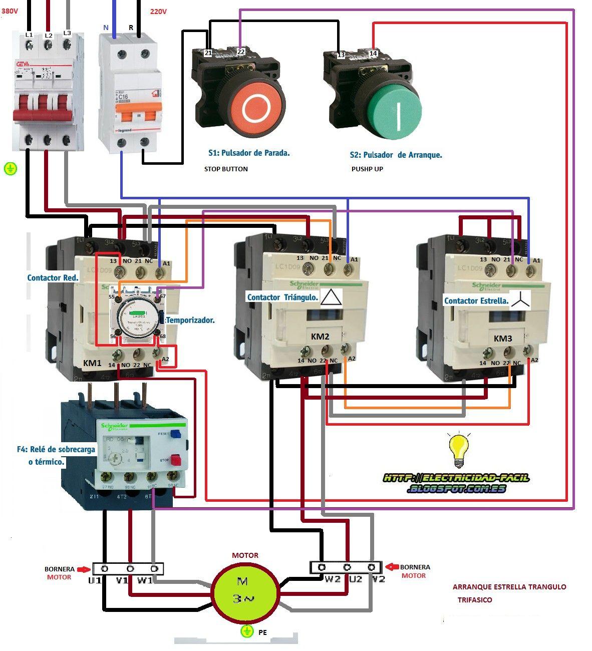 Schneider 3 Phase Contactor Wiring Diagram
