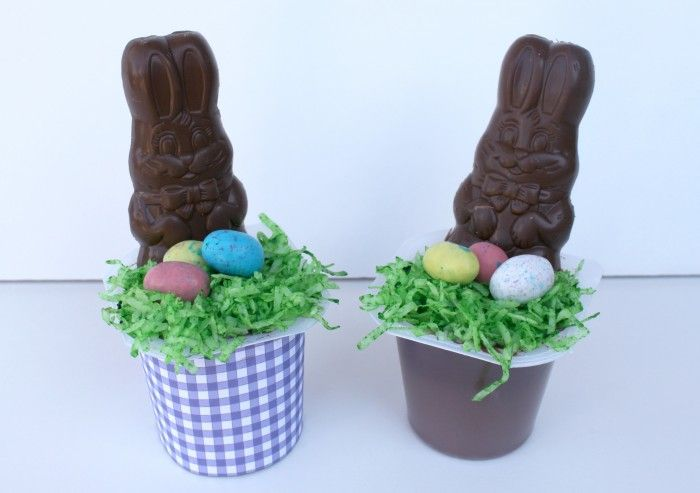 cute easter pudding cups
