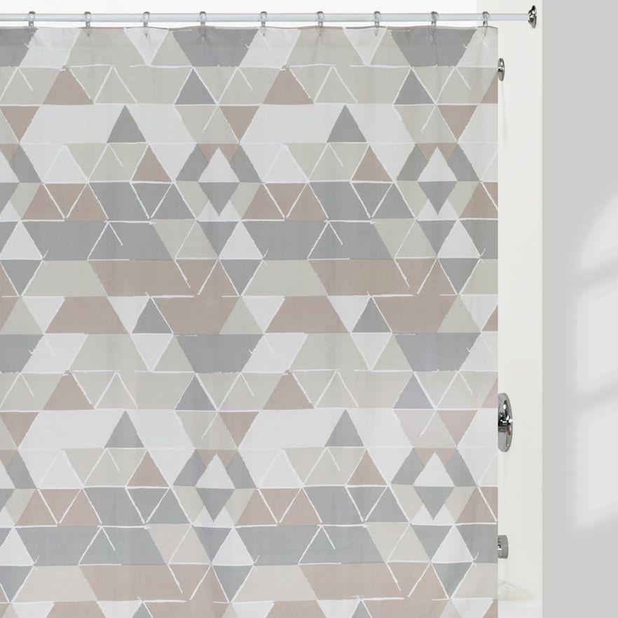 Creative Bath Triangles Shower Curtain Multicolor Creative Bath