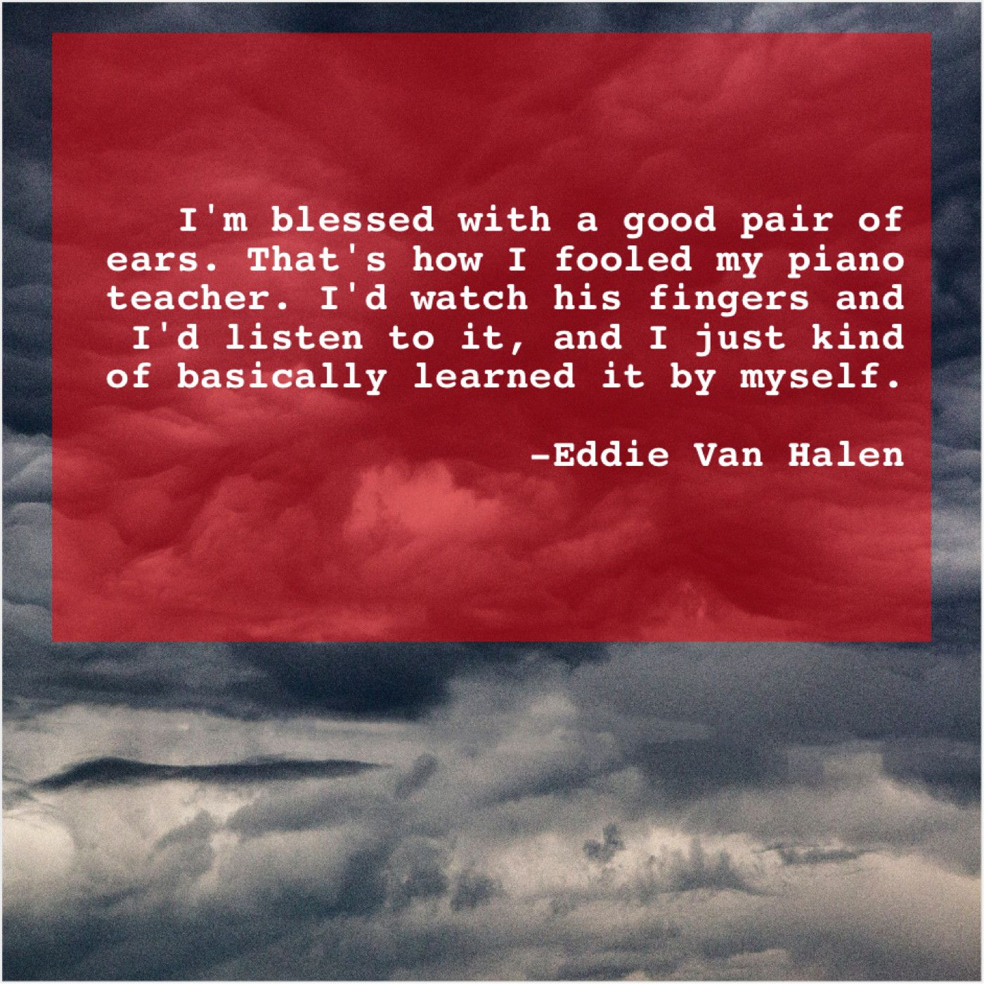 Eddie Van Halen Im Blessed With A Good Ben Elton Bob Geldof Van Halen