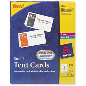 Avery Laser Inkjet Tent Cards 2 Tent Cards Small Tent Printable Place Cards
