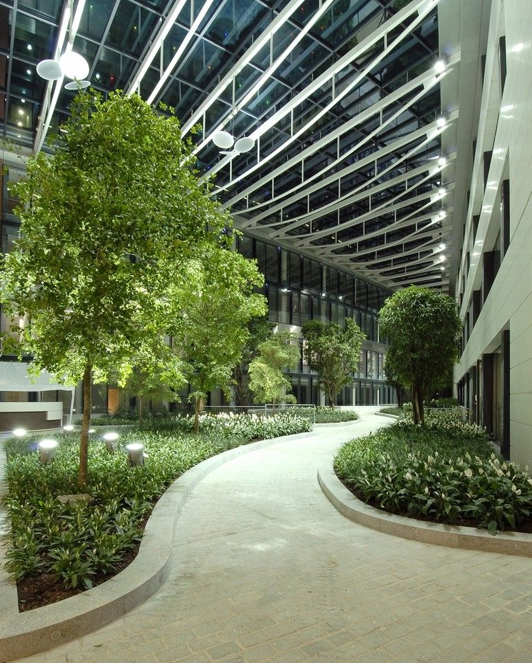 Office block gardens trees google search mills and for Interior garden design