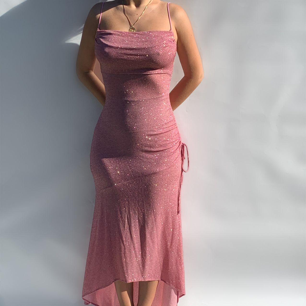 Iridescent Shimmering Light Pink Dress Still Depop Pink Formal Dresses Prom Outfits Dresses [ 1276 x 1276 Pixel ]