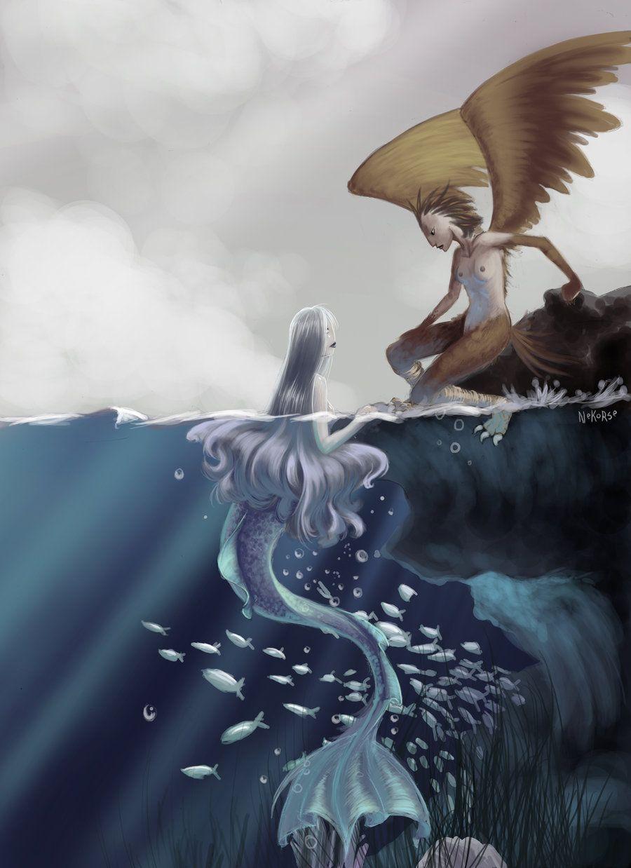 Картинки ангелы русалки