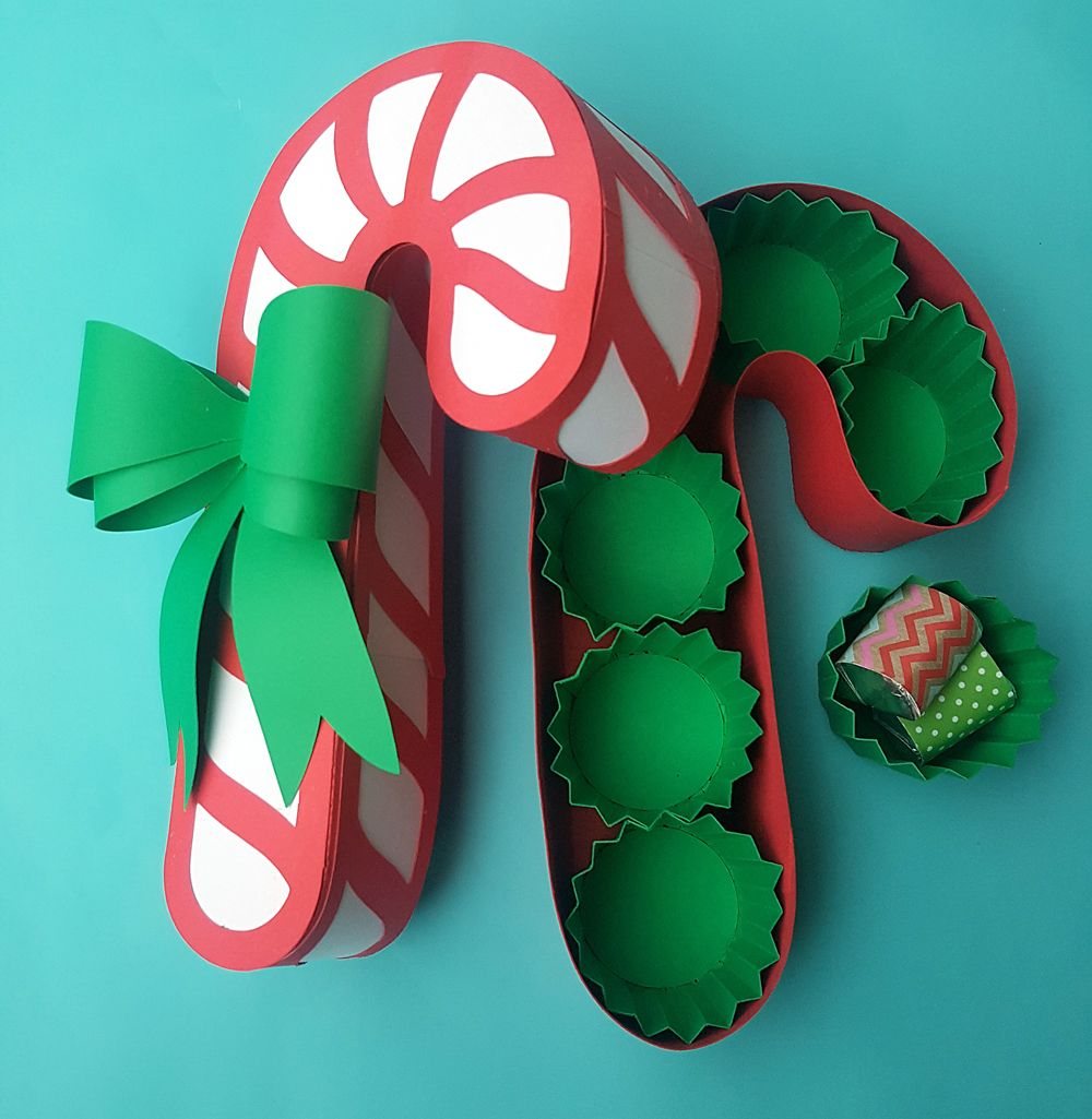 Weekend Of Giving Candy Cane Box Share Your Craft Pinterest