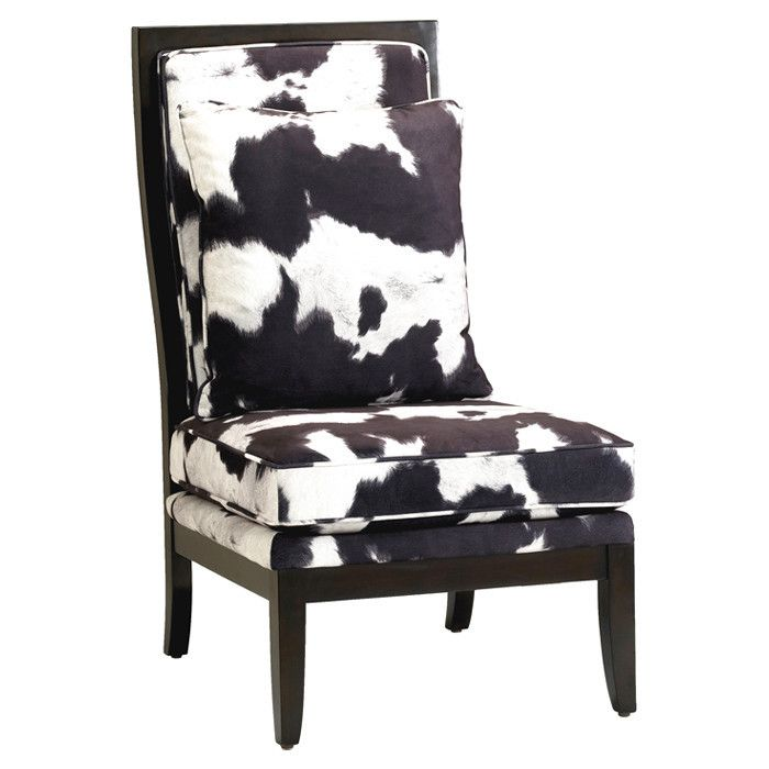 Angus Accent Chair In Black In 2020 Cowhide Chair Accent Chairs