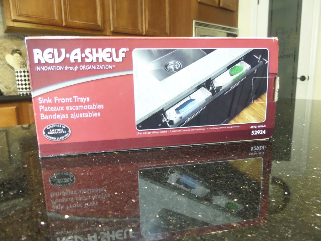 REV A SHELF Sink Front Tray Kit To Turn False Drawer Fronts Into Storage