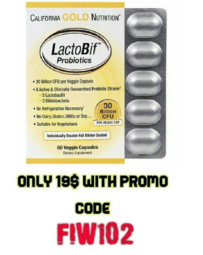 iHerb Exclusive Best Seller CGN, LactoBif Probiotics, 30