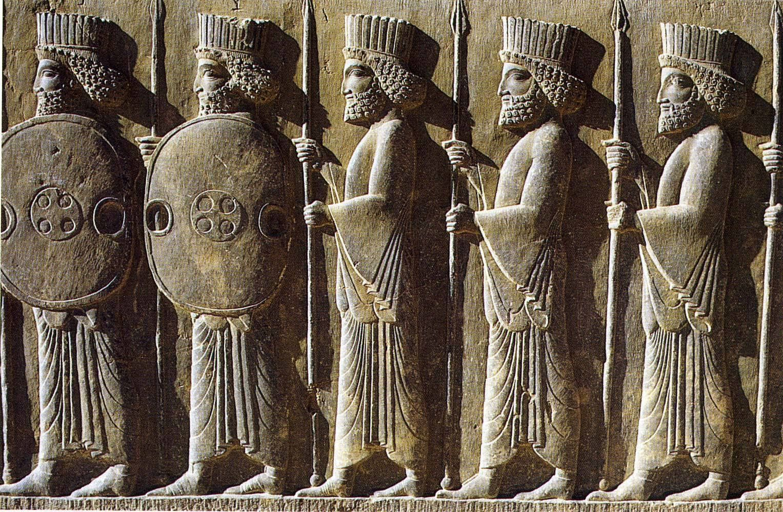 Persian Soldiers From The Apadana Of Persepolis Civilizacao