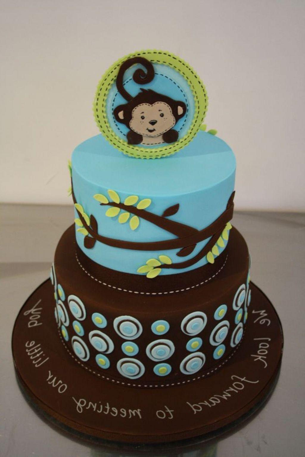 Monkey Baby Cake Fondant