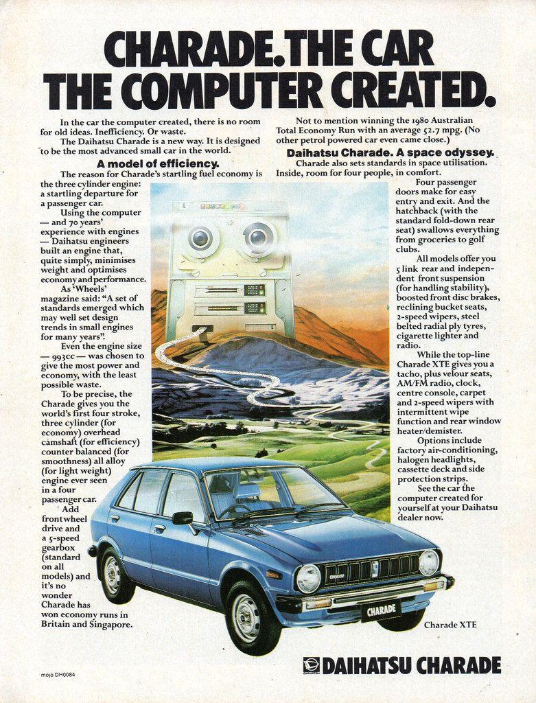 1980 Daihatsu Charade G10 Series 1 Aussie Original Magazine