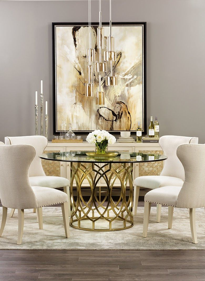 Glass console table decor  JO Design Industries  Ideas for the House  Pinterest  Room