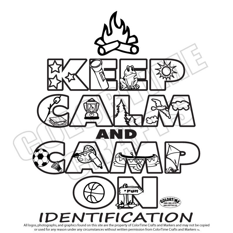 Girl Scout Camping Coloring Pages Keep Calm And Camp On