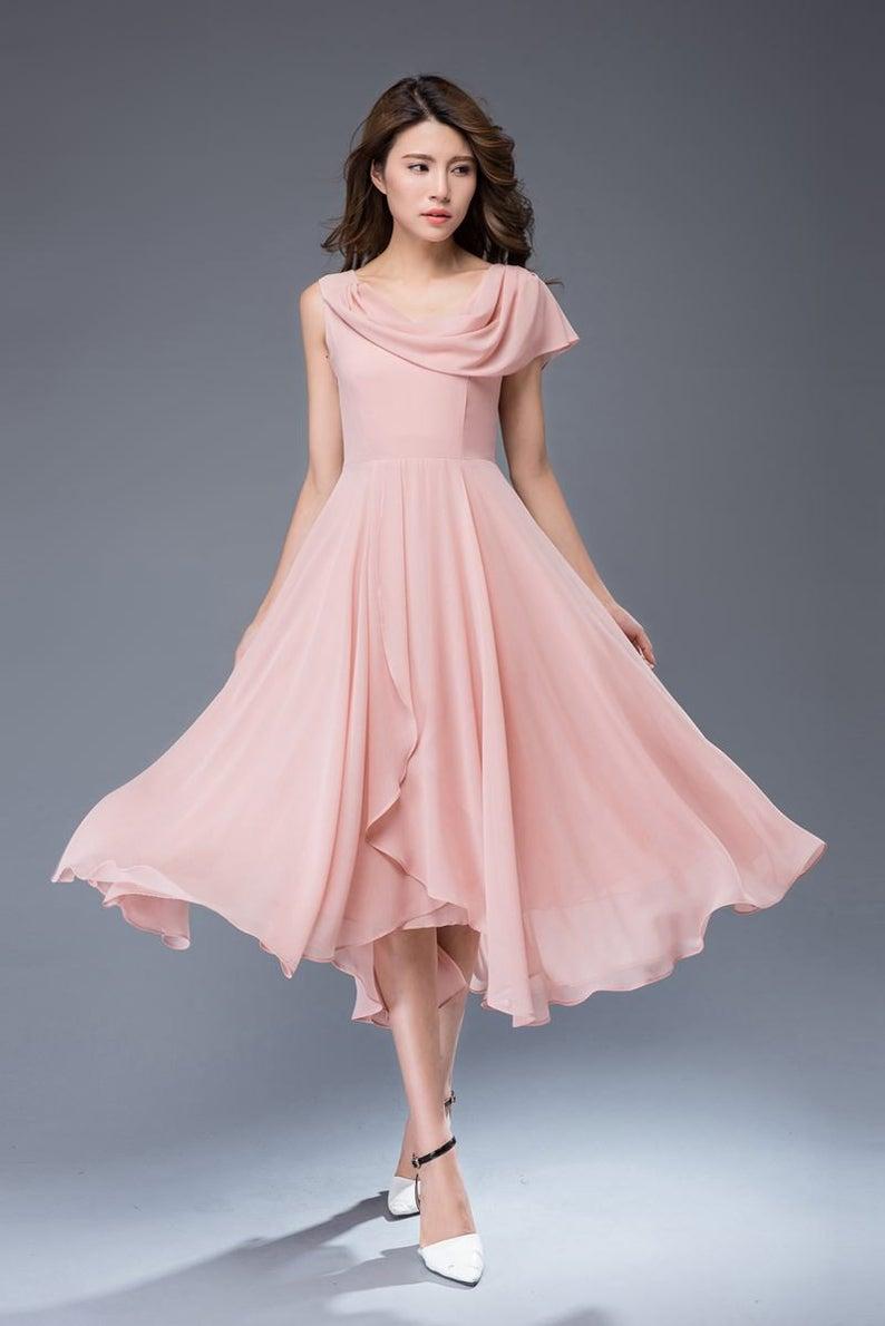 17+ Pink chiffon dress ideas