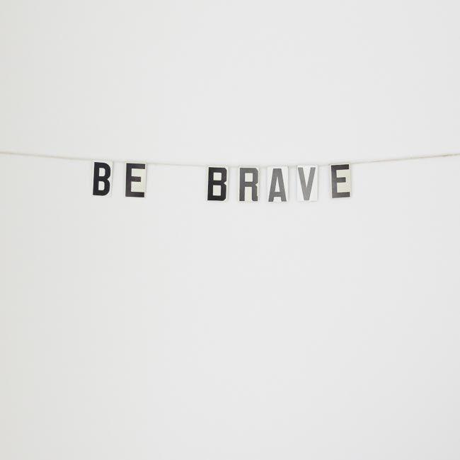 be+brave+/+vintage+modern+bunting+by+ohalbatross+on+Etsy,+$28.00
