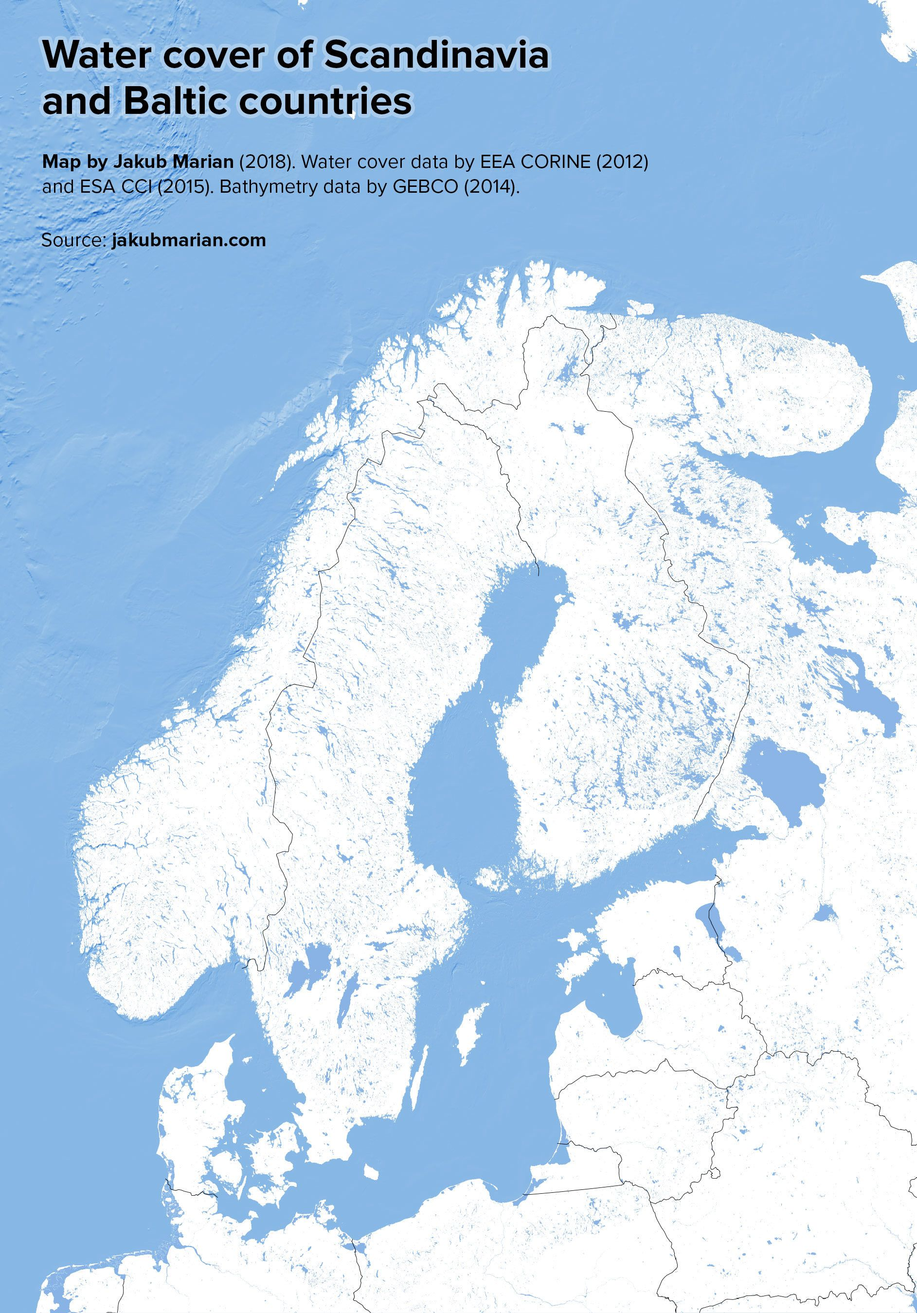 Water Bodies Of Scandinavia And Baltic States Baltic States Water Bodies Scandinavia