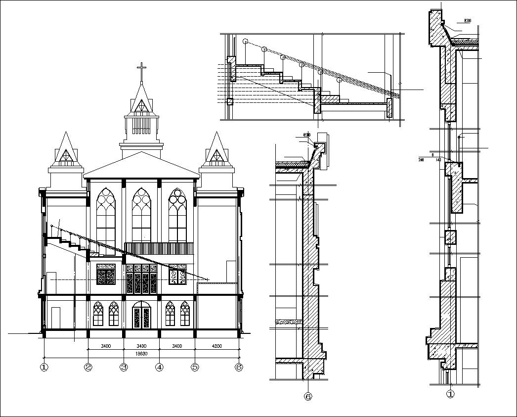 Cathedrals And Church 3 Cad Design