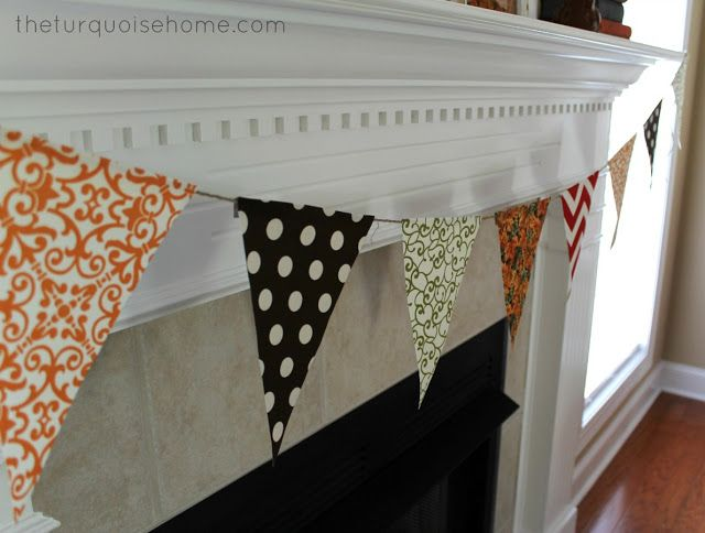 {DIY} No-Sew Bunting Tutorial - nice for welcome home or ...